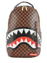 "Rugzak Sharks In Paris Met 15"" Laptopvak Sprayground Bruin ultimate edition 910B"