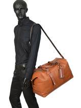 Sac De Voyage Cabine Casual Leather Tommy hilfiger Marron casual leather AM05047-vue-porte