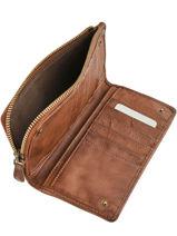Portefeuille Cuir Biba Marron accessoires TRE3L-vue-porte