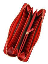 Portefeuille Jet Set Travel Cuir Michael kors Rouge money pieces H9GTVZ3L-vue-porte