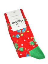 Sokken xmas holly-HAPPY SOCKS