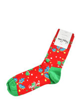 Sokken xmas holly-HAPPY SOCKS-vue-porte