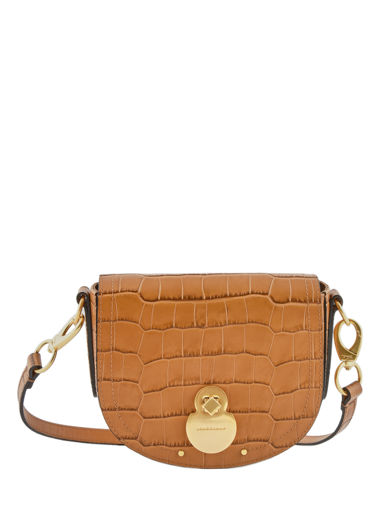 Longchamp Cavalcade croco Sac porté travers Marron