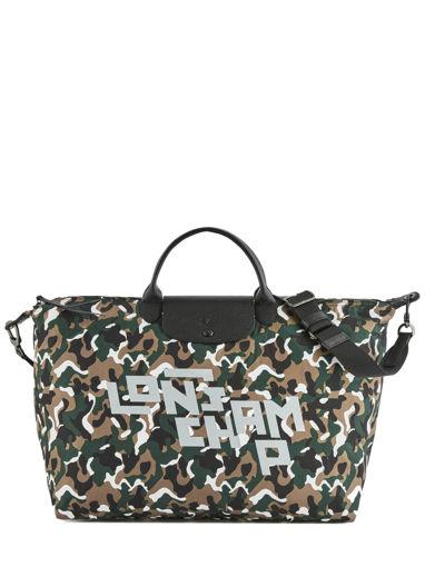 Longchamp Camouflage lgp Reistassen Groen