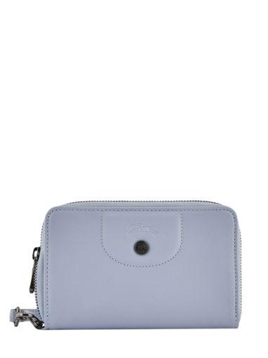 Longchamp Le pliage cuir Portefeuille Blauw