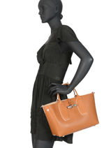 Longchamp Roseau luxe Handtas Bruin-vue-porte
