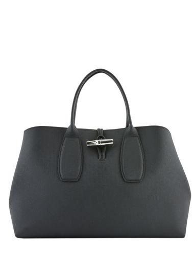 Longchamp Roseau Sac porté main Noir