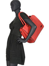 Sac Shopping Format A4 Gallantry Rouge format a4 M9216-vue-porte