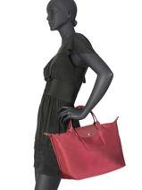 Longchamp Handtas Violet-vue-porte