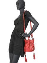 Bucket Bag S Premier Flirt Lancel Rood premier flirt A10109-vue-porte