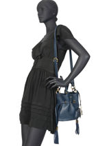 Bucket Bag S Premier Flirt Lancel Blauw premier flirt A10109-vue-porte