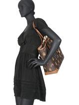 Sac Shopping Jet Set Girls Format A4 Michael kors Marron saddie H9GV0T30-vue-porte