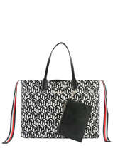 Sac Cabas Iconic Tommy Tommy hilfiger Noir iconic tommy AW07834