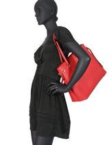Sac Shopping Digital Guess Rouge digital VG685324-vue-porte