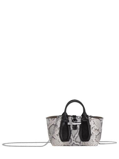 Longchamp Roseau python Sac porté main Noir