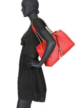 Sac Shopping New Wave Guess Rouge new wave VG747509-vue-porte