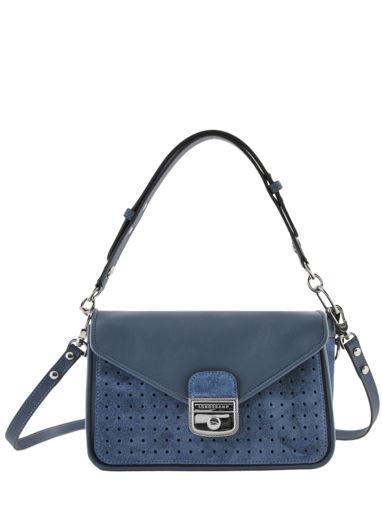 Longchamp Mademoiselle longchamp velours Besace Bleu