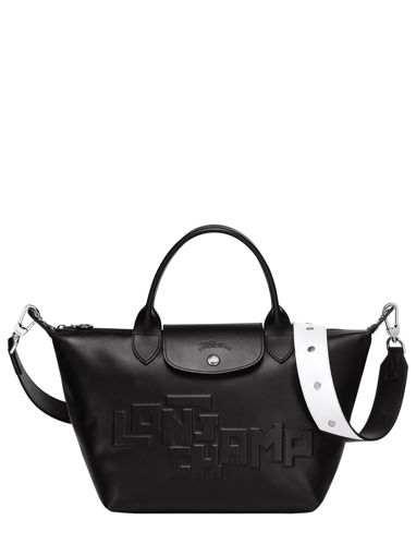 Longchamp Le pliage animation cuir estam Sac porté main Beige