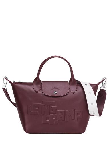 Longchamp Le pliage animation cuir estam Handtas Rood