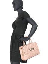 Handtas Guess Chic Glossy Guess Roze guess chic PG758906-vue-porte