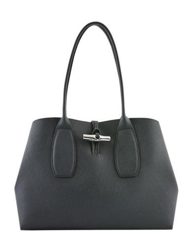 Longchamp Roseau Besace Noir