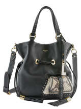 Bucket Bag M Premier Flirt Python Leder Lancel Zwart premier flirt A10529