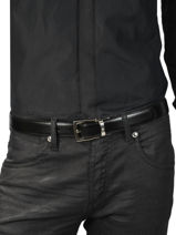 Ceinture Homme Réglable Cuir Montblanc Noir belts 109738-vue-porte