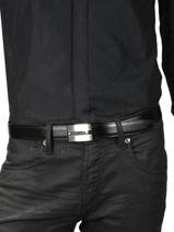 Verstelbare Herenriem Leder Montblanc Zwart belts 114385-vue-porte