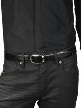 Ceinture Homme Réglable Cuir Montblanc Noir belts 114412-vue-porte