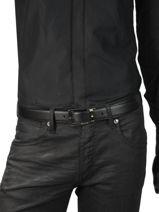 Verstelbare Herenriem Leder Montblanc Zwart belts 116706-vue-porte