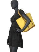 Le Cabas Moyen+ Paillettes Vanessa bruno Jaune cabas 1V40414-vue-porte