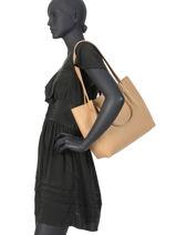 Sac Shopping Foulonne Double Cuir Lancaster Beige foulonne double 470-20-vue-porte