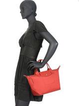 Longchamp Le pliage neo Sac porté main Rouge-vue-porte