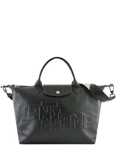Longchamp Le pliage animation cuir estam Sac porté main Rouge