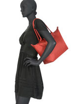 Longchamp Le pliage neo Besace Rouge-vue-porte