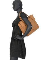 Sac Shopping Collins Cuir Biba Marron collins FORL3-vue-porte