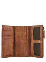 Portefeuille Heritage Cuir Biba Marron accessoires POR4L-vue-porte