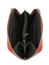 Portefeuille Caviar Cuir Milano Orange caviar CA19043-vue-porte