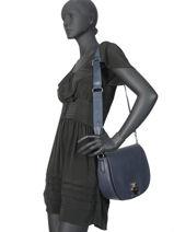 Longchamp Cavalcade Cross body tas Blauw-vue-porte