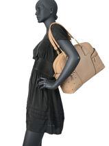 Sac Shopping Pearl Liu jo Beige prez AA0190-vue-porte