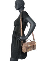 Cross Body Tas Vintage Leder Paul marius Zilver vintage ARTISANE-vue-porte