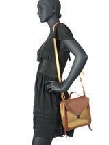 Cross Body Tas Vintage Leder Paul marius Bruin vintage MISTINGU-vue-porte