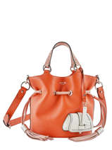 Bucket Bag S Premier Flirt Bicolor Leder Lancel Oranje premier flirt A10597
