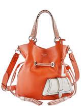 Sac Seau M Premier Flirt Bicolore Cuir Lancel Orange premier flirt A10596