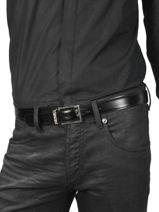 Ceinture Ajustable Montblanc Noir belts 113273-vue-porte