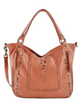 Sac Shopping Studs Cuir Basilic pepper Orange studs BSTU12