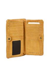 Portefeuille Heritage Cuir Biba Jaune accessoires KA4-vue-porte