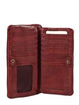 Portefeuille Heritage Cuir Biba Rouge accessoires KA4-vue-porte