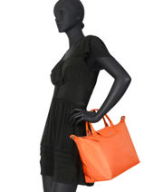 Longchamp Le pliage neo Handtas Oranje-vue-porte