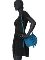 Cross Body Tas Obstacle Leder Etrier Blauw obstacle EOBS09-vue-porte